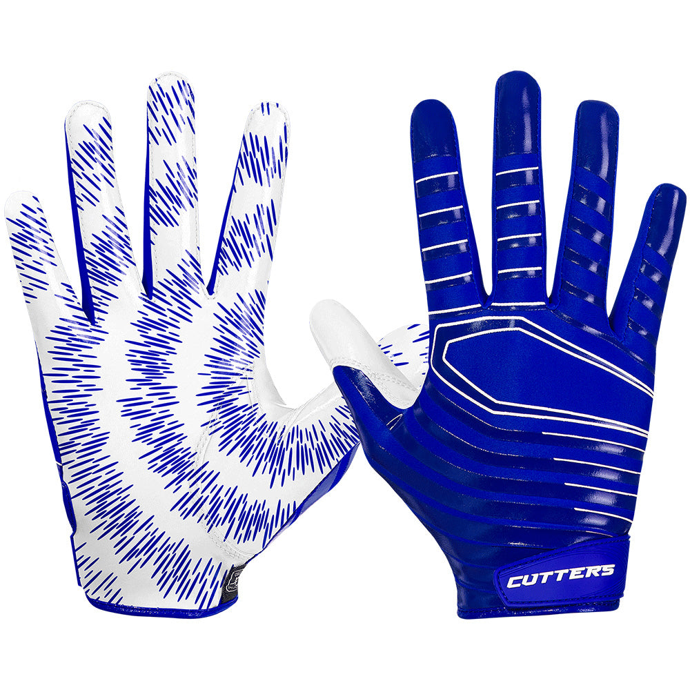 Cutters S252 REV 3.0 Receiver Gloves C-Tack Football Lightweight Pair Royal