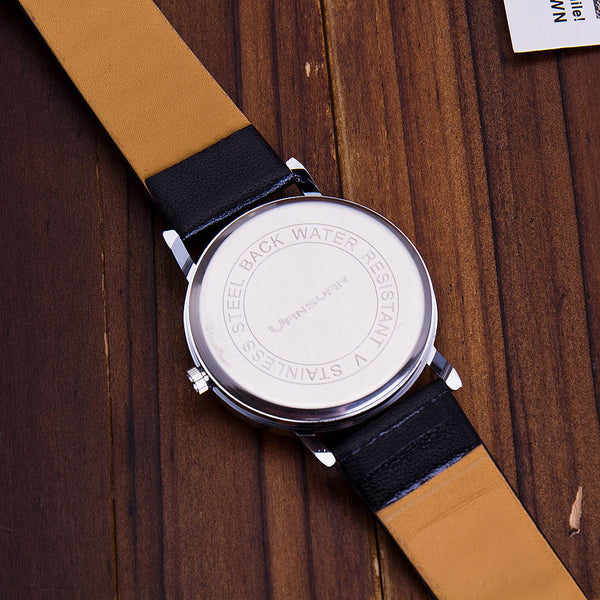 Fashion who cares I'am late anyway Watch Leather Strap Women Quartz