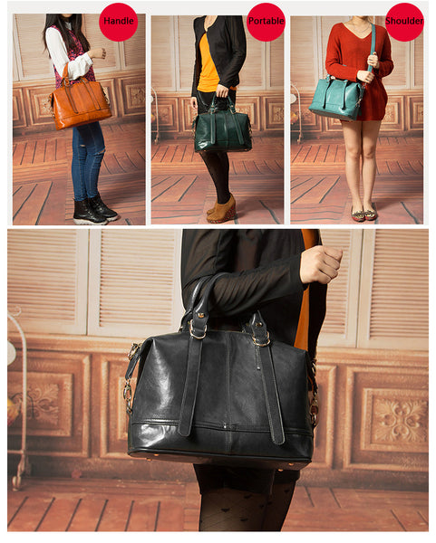 YUOCL shoulder crossbody bags for women leather luxury handbags women  vintage sac