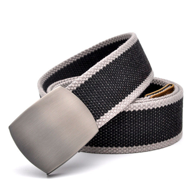 Canvas Belt For Men With Automatic Buckle Man Canvas Tactical Belts