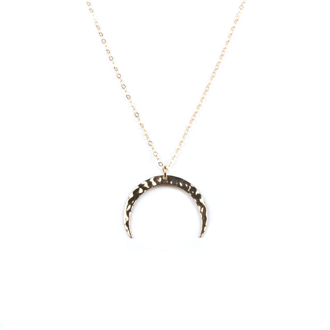 Luna Gold Crescent Moon Necklace