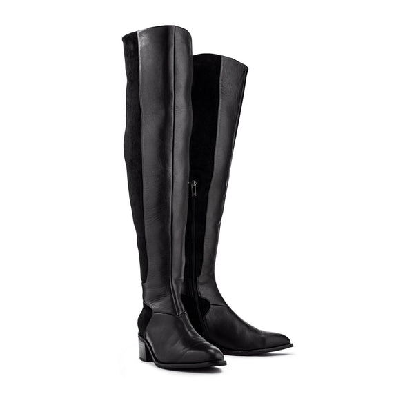 Profile Over The Knee Boot - Black