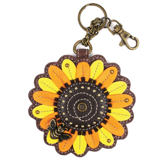 Chala Sunflower Key Fob/Coin Purse