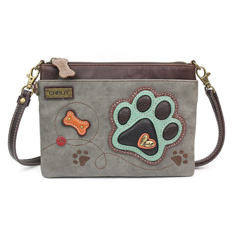 Chala Mini Crossbody - Dog Paw - Gray