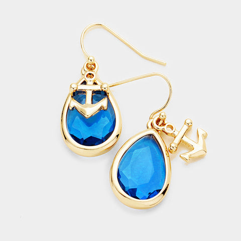 Earrings - Anchor Teardrop