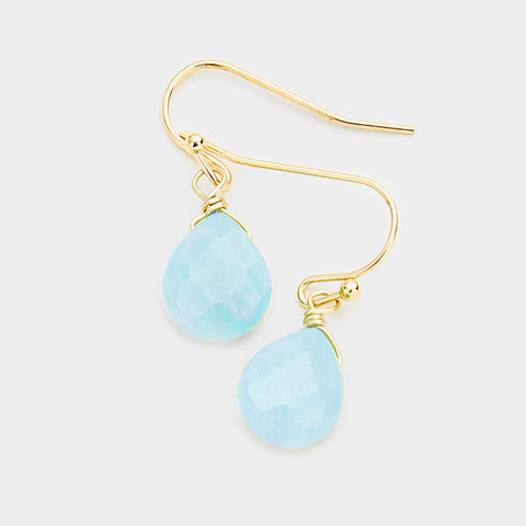Earrings - Opal Blue Dangle