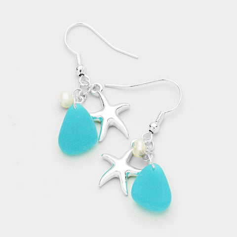 Earrings - Starfish Dangle