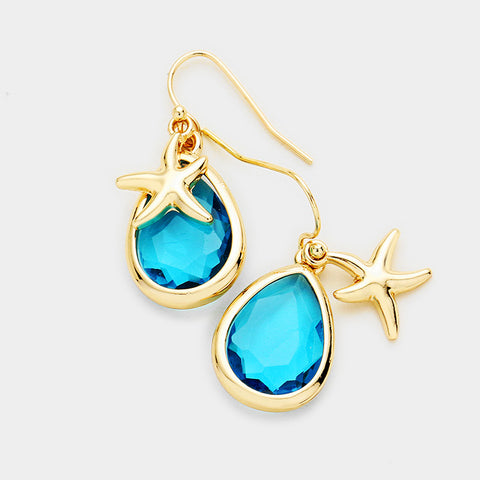 Earrings - Starfish Teardrop