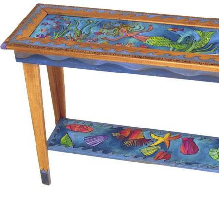 Sticks Sofa Table, 4 Foot-Mermaid