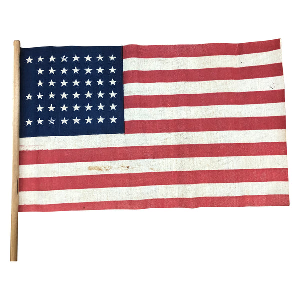 Vintage 45 Star Parade Flag on stick - Rare Star Pattern