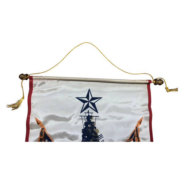 Original WWII Serving in the U.S. Navy Window Banner