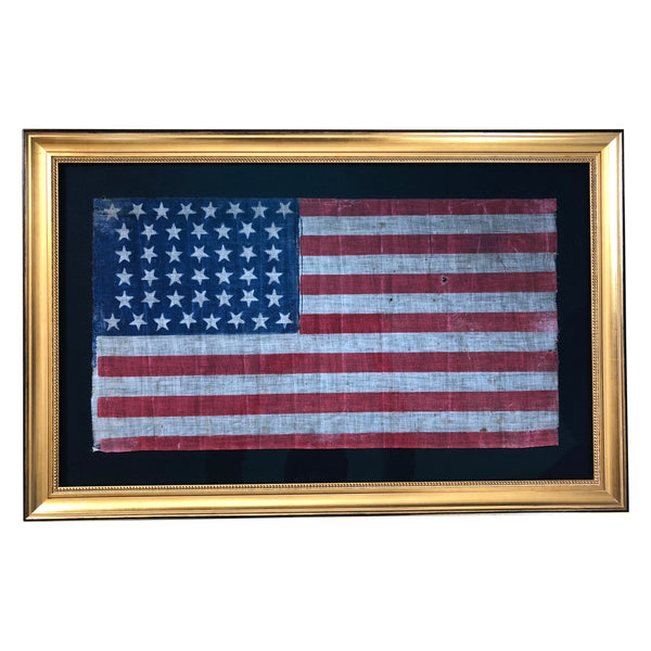 44 Star Flag - Antique Vintage American Flag - Hourglass Star Pattern 1891-1896