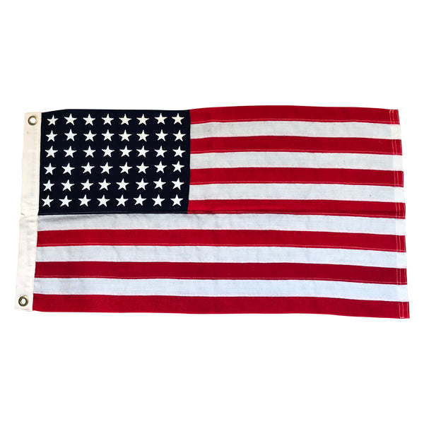 Original WWII USN Ensign No. 12 48 Star Flag - PT Boat Size, Wool Bunting