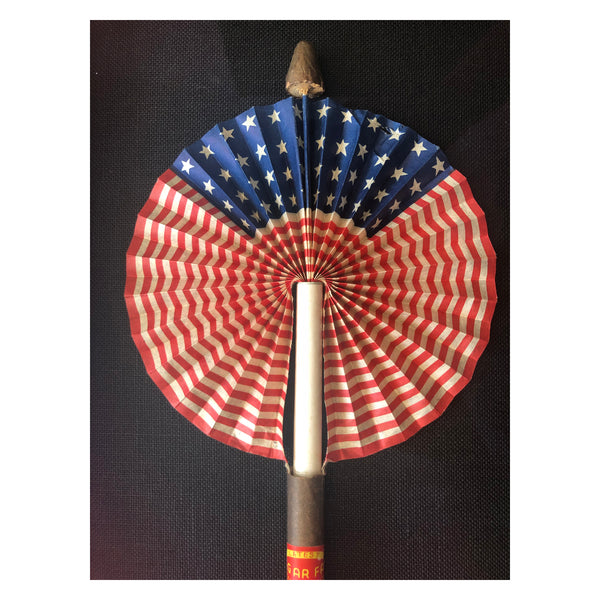 Patriotic Cigar Fan Flag - Circa 1920s