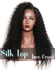 Glueless Silk Top Lace Front Wig: Deep Curl