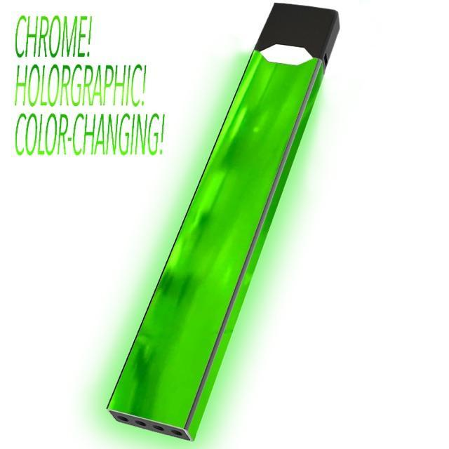 green chrome holographic color changing juul skin juul wrap juulwraps