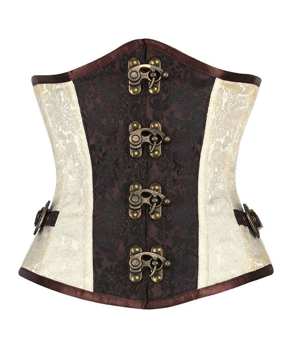 Steel Boned Steampunk Waist Training Corset