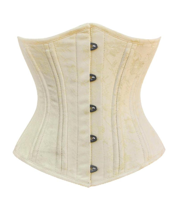 Plus Size Steel Boned Underbust Brocade Waist Trainer Corset