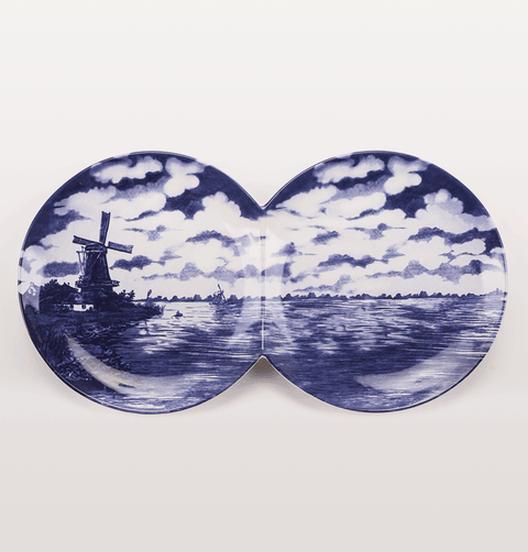 MULTIDISH DOUBLE DELFT BLUE SERVING PLATE