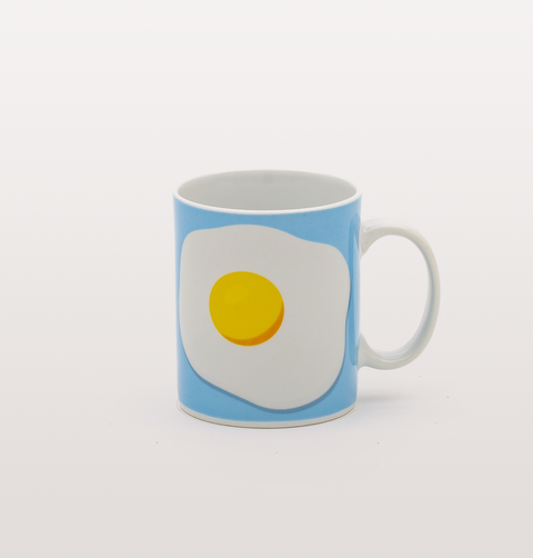 BLUE AND WHITE EGG MUG BY STUDIO BLOW