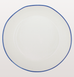 Blue line abbesses white pasta bowl by Canvas Home