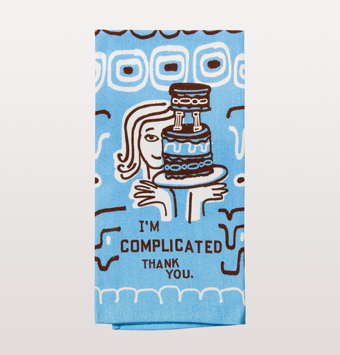 I'm complicated thank you dish towel women by Blue Q