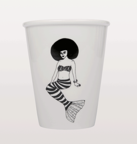 Helen B Mermaid cup with afro