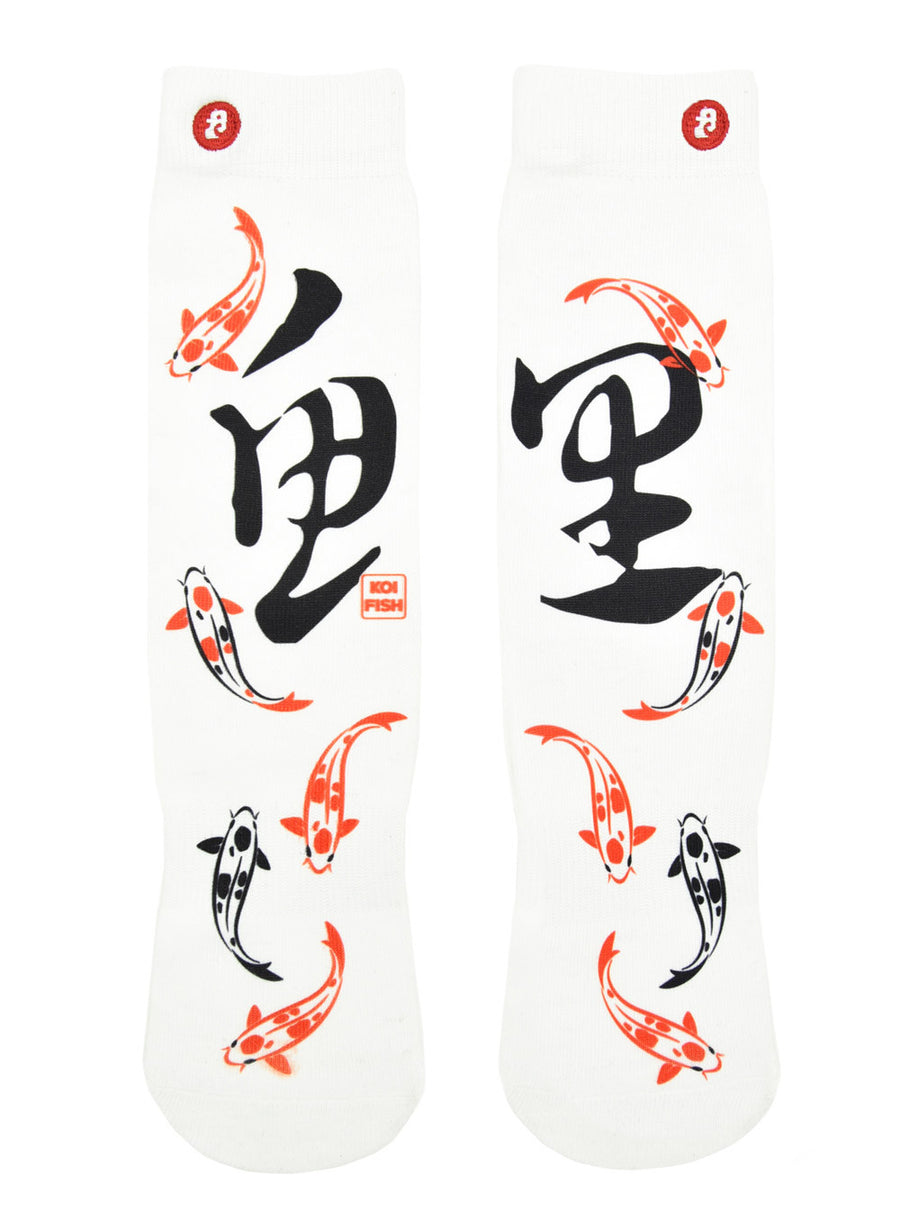 FOOL'S DAY Koi Fish Athletic Socks