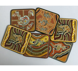 Aboriginal Art Australia Drink Coasters - Set of 6