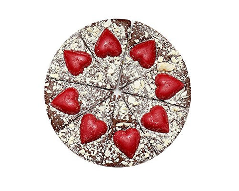 "Luxury 7""  inch Chocolate Pizza  With Hearts"