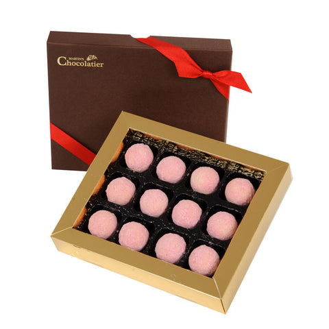 Champagne And Strawberries Pink Truffle Premium Giftbox
