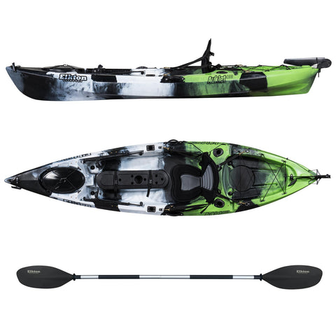 10' Single Person Rudder Operated Sit On Top Fishing Kayak