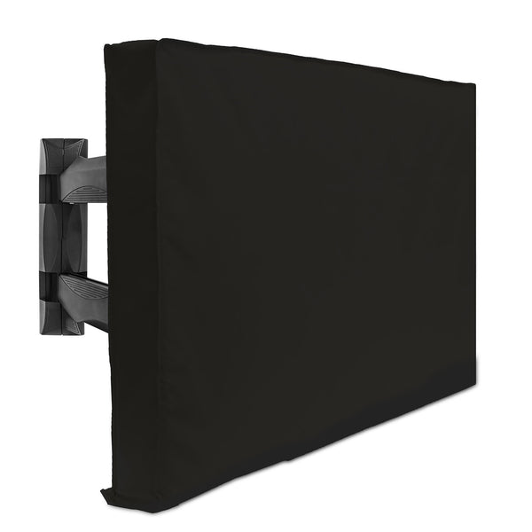 "BEST FITTING COVER AVAILABLE: Universal design to fit almost every brand of flat screen television. The slim 4-1/2"" depth of this cover makes for a snugger fit than many competing covers. Hook and loop closures on the rear of the cover have been carefully designed to securely close around nearly every style of TV mount, including rolling carts."