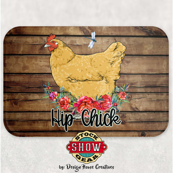 Buff Orpington Glass Cutting Board