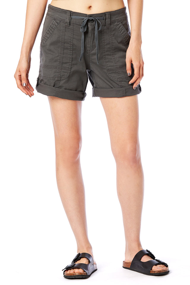 Gray Convertible Shorts - Women's Shorts