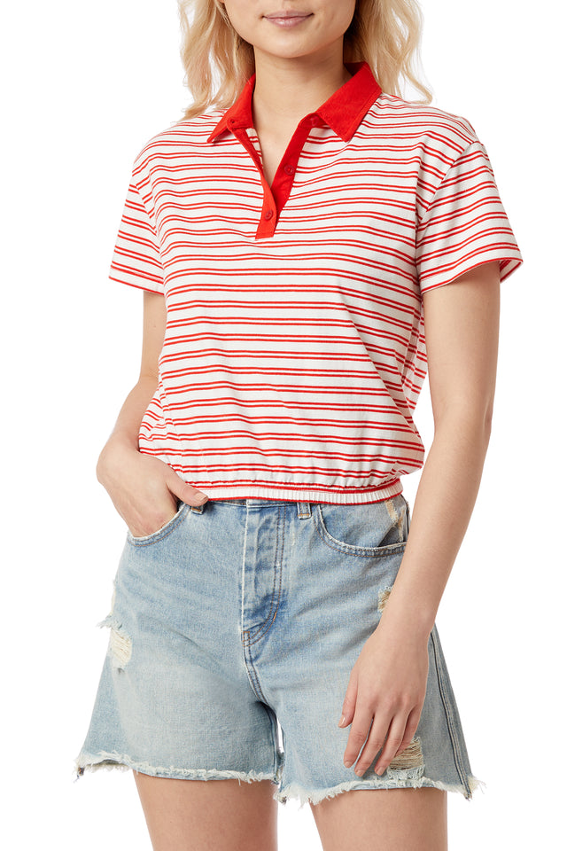Edington Stripe Polo Shirt