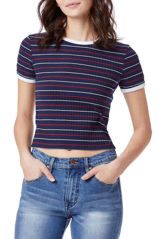 Brooklyn Stripe Rib Tee