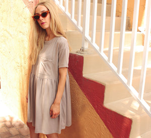 Modest smock summer dress for women