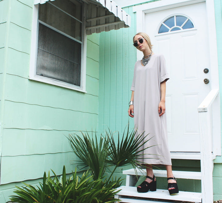 Modest summer long dress for women
