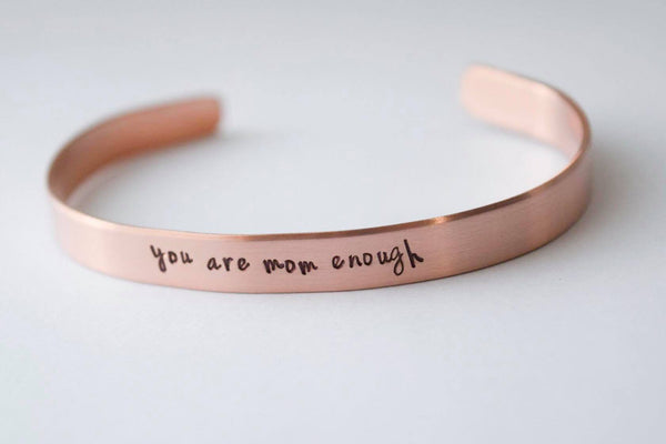 You Are Mom Enough Adult Cuff Bracelet