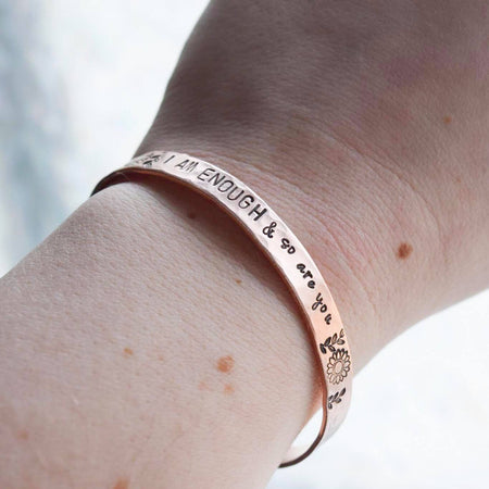 You Are Enough Adult Cuff Bracelet