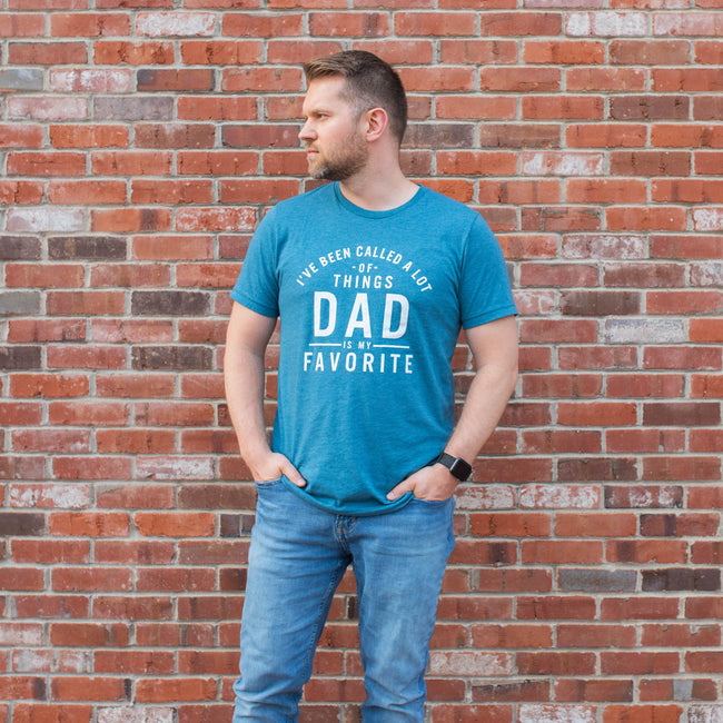 Dad is My Favorite Heather Deep Teal Tee