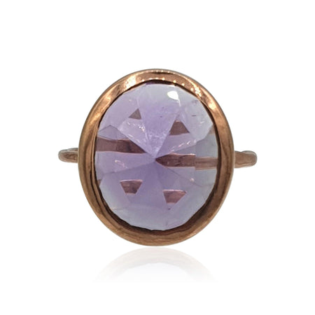 Aissa: Amethyst Ring in 18k Rose Gold Vermeil on Sterling Silver Ring - Eliza Bautista
