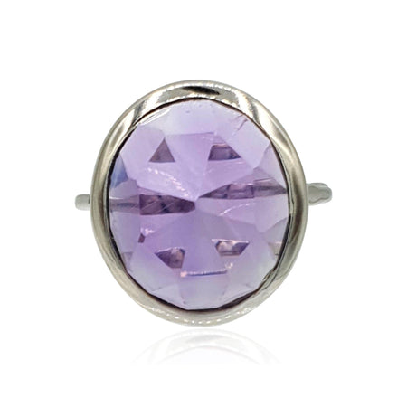 Aissa: Amethyst and Sterling Silver Ring - Eliza Bautista