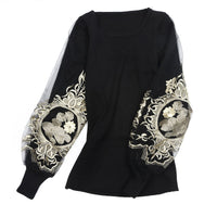 Embroidered Knit Sweater - The Urban Doll