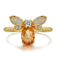 Honey Bee Natural Citrine Ring - The Urban Doll