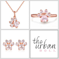 Paw Print Rose Quartz 3 Piece Collection - The Urban Doll