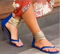 Gold Rings Ankle Strap Gladiator Sandals (3 Colors) - The Urban Doll