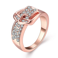 Rose Gold Buckle Ring - The Urban Doll