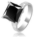 1-3 Ct Princess Cut Black Diamond Solitaire Engagement Ring - ZeeDiamonds